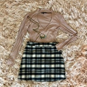 Abercrombie & Fitch Plaid Mini Skirt